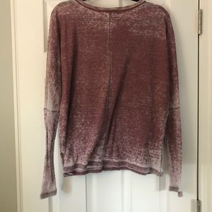 Urban Outfitters Tops - project social tee maroon acid wash waffle shirt